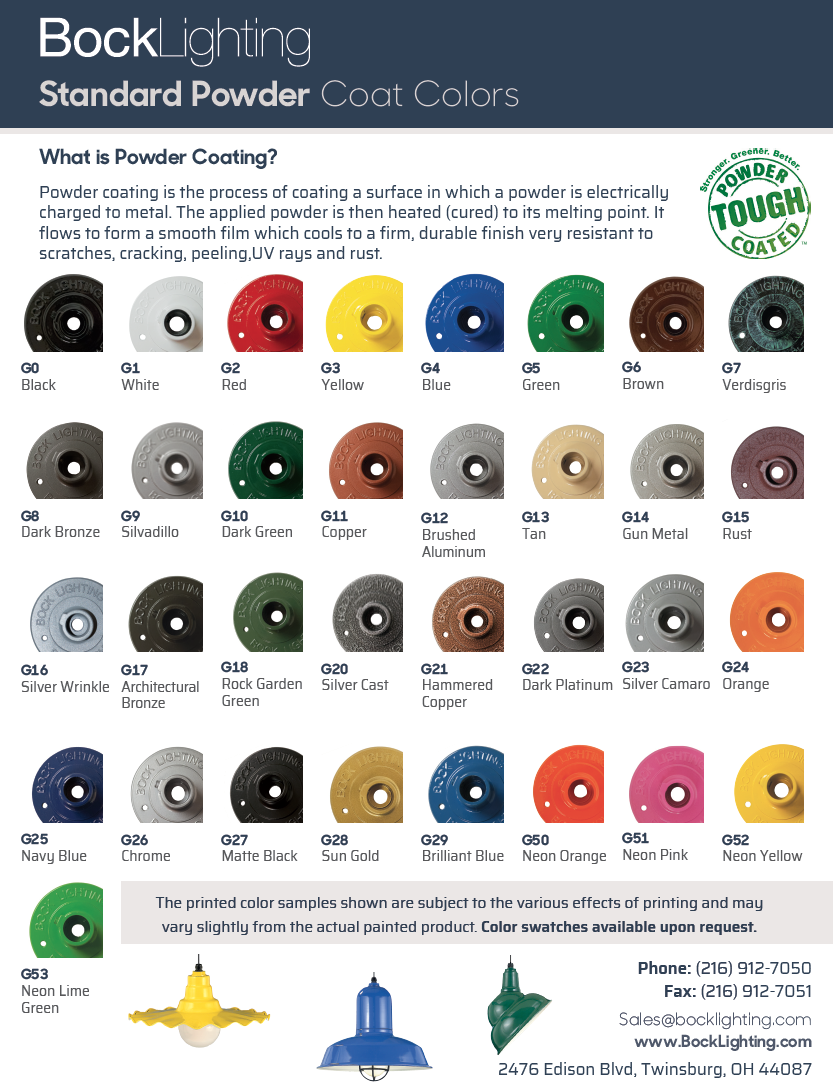 Powder Coat Colors